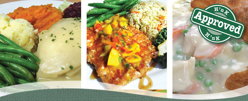 Lunch and Dinner Entrees at the Hearth 'n Kettle Restaurants